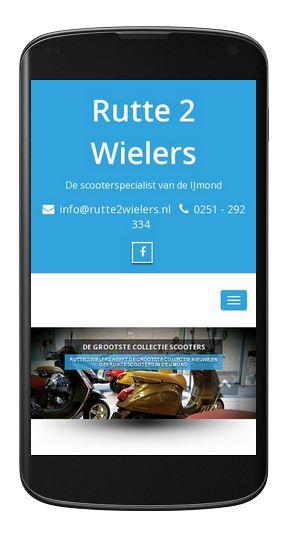 Rutte 2 Wielers - Mobiel site online