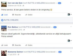 Rutte 2 Wielers - Facebook Recensies