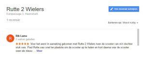 Rutte 2 Wielers - Google Recensie